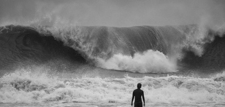 Beach safety typhoon swell